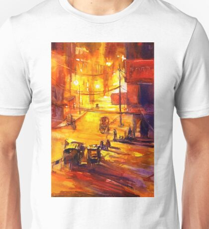 Kathmandu street scene.  Watercolor painting Unisex T-Shirt