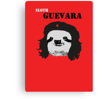 Sloth Geuvara Canvas Print