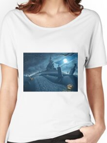 Halloween creepy night Women's Relaxed Fit T-Shirt