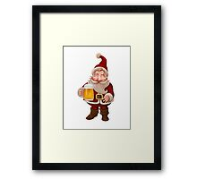 Santa Claus Beer Framed Print