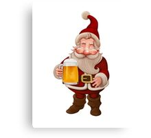 Santa Claus Beer Canvas Print