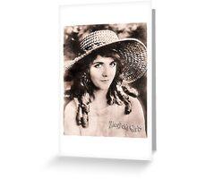 Ziegfeld Girls ... Olive Thomas Greeting Card