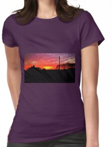 Sunrise Photograph Womens Fitted T-Shirt