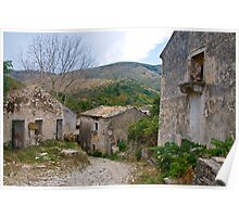 Old Perithia, Corfu Poster