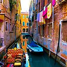 Side Canal, Venice by dunawori