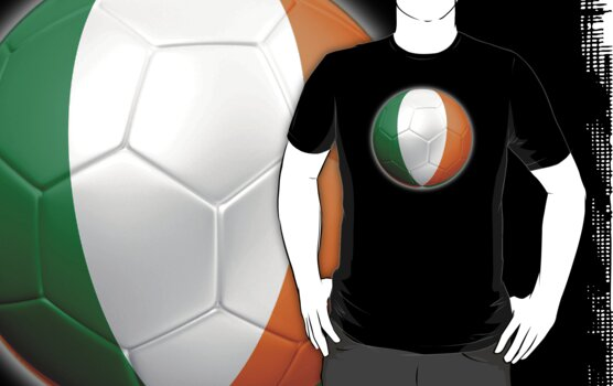 Ireland - Irish Flag - Football or Soccer 2 by graphix