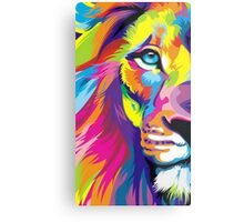 Colorful Lion Metal Print