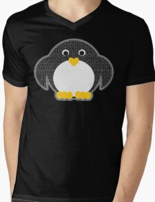 Penguin - Binary Tux Mens V-Neck T-Shirt
