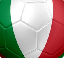 Forza Italia - Italian Flag - Football or Soccer Ball & Text 2 Sticker