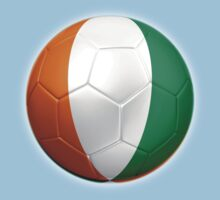 Ivory Coast - Cote d'Ivoire - Ivorian Flag - Football or Soccer 2 One Piece - Short Sleeve