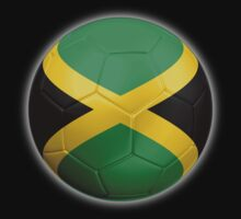 Jamaica - Jamaican Flag - Football or Soccer 2 One Piece - Long Sleeve