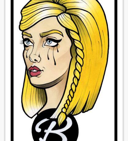 Sad barbie Sticker