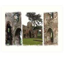 Acton Burnell Castle Triptych Art Print