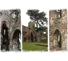 Acton Burnell Castle Triptych Photographic Print