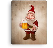 Santa Claus Beer Canvas Print
