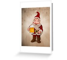 Santa Claus Beer Greeting Card