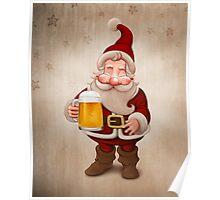 Santa Claus Beer Poster