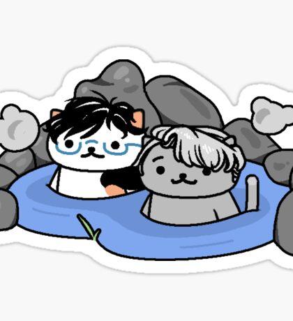 Neko Atsume on Ice: Hot Spring Cats Sticker