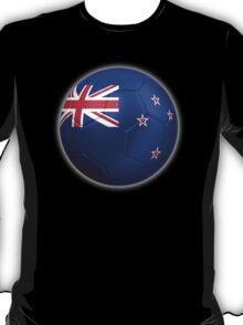New Zealand Flag - Football or Soccer 2 T-Shirt