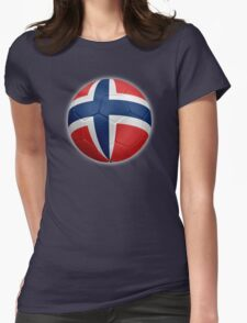 Norway - Norwegian Flag - Football or Soccer 2 Womens Fitted T-Shirt