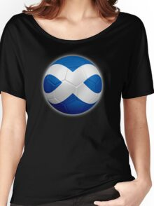 Scotland - Scottish Flag - Football or Soccer 2 Women's Relaxed Fit T-Shirt