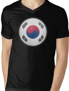 South Korea - South Korean Flag - Football or Soccer 2 Mens V-Neck T-Shirt