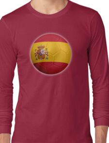 Spain - Spanish Flag - Football or Soccer 2 Long Sleeve T-Shirt