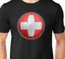 Switzerland - Swiss Flag - Football or Soccer 2 Unisex T-Shirt