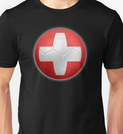 Switzerland - Swiss Flag - Football or Soccer 2 Unisex T-Shirt