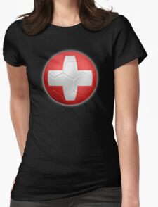 Switzerland - Swiss Flag - Football or Soccer 2 Womens Fitted T-Shirt