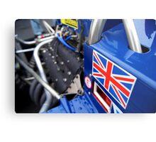 Historic F1 Car with Union Jack Metal Print