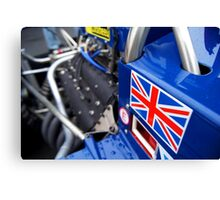 Historic F1 Car with Union Jack Canvas Print