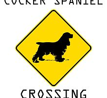 Cocker Spaniel Crossing by kwg2200