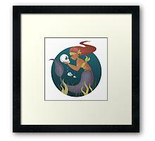 Piranha Mermaid Framed Print