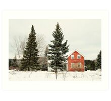 The Red House Art Print