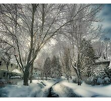 Brookline after Blizzard Nemo Photographic Print