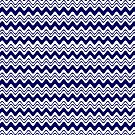 Blue Waves Pattern Print by red addiction
