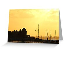 Cowes Sunset Greeting Card