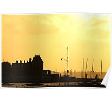 Cowes Sunset Poster