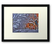 All this snow Framed Print