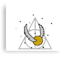 Snitch and Deathly Hallows Canvas Print