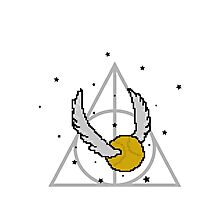 Snitch and Deathly Hallows Photographic Print
