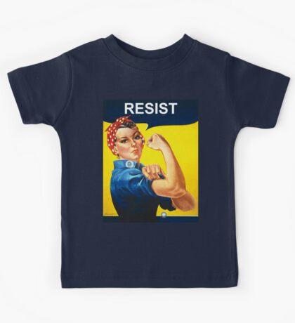 Resist - Rosie the Riveter Kids Tee