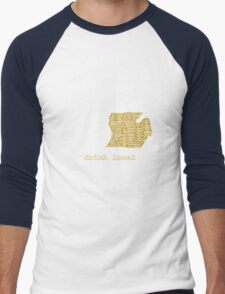Drink Local (MI) Men's Baseball ¾ T-Shirt