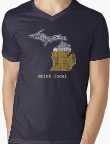 Drink Local (MI) Mens V-Neck T-Shirt