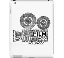 Film Camera Typography - Black iPad Case/Skin