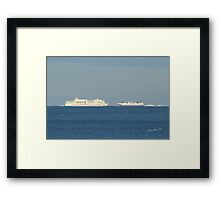 Brittany Ferries Pont Aven & Normandie Express Framed Print