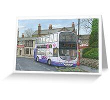 Horsforth Leeds Bus Greeting Card