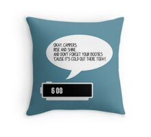 Okay, Campers Throw Pillow