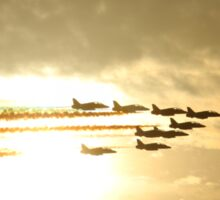 Red Arrows Sunset Sticker